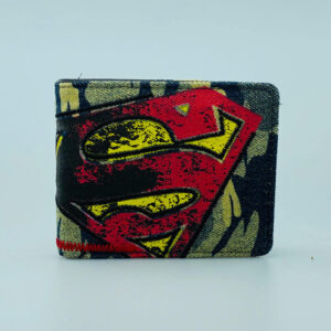 Billetera de texura Jean Superman
