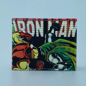 Billetera Ecocuero Iron Man vs Dr doom